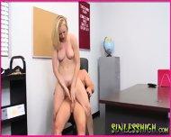 Blonde Wanda Sucks Teacher Cock - scene 11