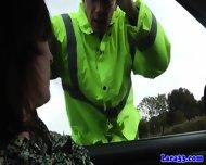 Mature British Skank Swallows Police Cum - scene 2