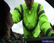 Mature British Skank Swallows Police Cum - scene 3