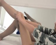 Unbeleivable Lezz Nylon Love Strapon - scene 3
