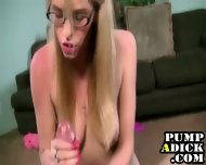 Glasses Handjob Slut - scene 1