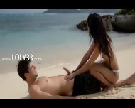 Extremely Hot Lovers Coitus On The Beach - scene 1