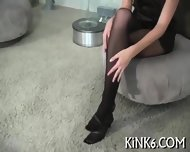 Hairy Twat In Transparent Tights - scene 2