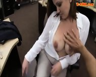 Hot Big Boobs Woman Pussy Fucked By Pawn Man For A Ticket - scene 6