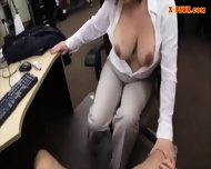 Hot Big Boobs Woman Pussy Fucked By Pawn Man For A Ticket - scene 7