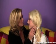 Horny Cougar Teaches Teen Girl How To Eat Pussy! - scene 3