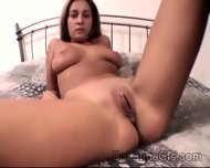 Busty Latina With Hot Big Jugs Pleases Her Sweet Pussy In This Solo - scene 5