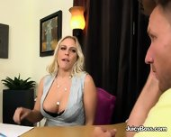 Busty Blonde Gets Her Pussy Licked By Driver - scene 4