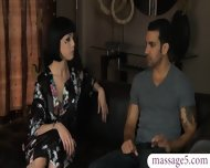 Tattooed Masseuse Gets Banged And Jizzed On At The Spa - scene 1
