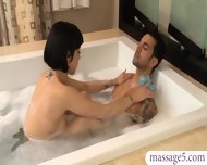 Tattooed Masseuse Gets Banged And Jizzed On At The Spa - scene 4