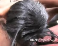 Black Hoe Really Rough Face Fucking - scene 9