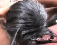 Black Hoe Really Rough Face Fucking - scene 9