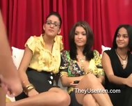 Clothed Women Watching Men Jerk Off - scene 5