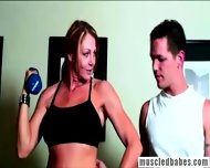 Sportive Milf Doing Fitness Workout - scene 1