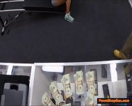 Black Milf Works Out Naked And Fucks Pawnshop Owner On Cam - scene 1