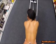 Black Milf Works Out Naked And Fucks Pawnshop Owner On Cam - scene 9