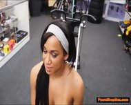 Black Milf Works Out Naked And Fucks Pawnshop Owner On Cam - scene 5