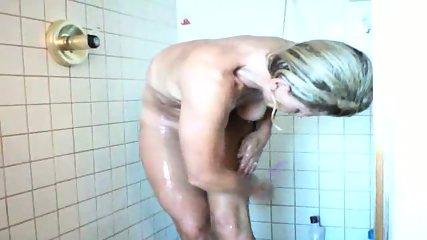 40 yo MILF wife shower - scene 2