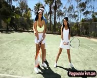 Two Busty Whores Missy And Selena Threesome In An Open Field - scene 1