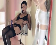 Hot Lesbians Fucking In Front Of Mirror - scene 2