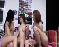 Two Amateur Girls Loving With Young Guy - scene 2