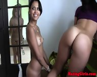 Lesbo Coed Beauties Clit Tease With Toys - scene 5
