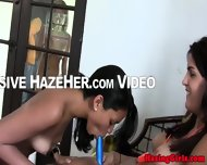 Lesbo Coed Beauties Clit Tease With Toys - scene 7