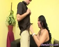 Stockings Shemale Jizzed - scene 3