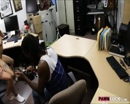 Ebony Boyfriend Nailed With Horny Pawnkeeper At The Pawnshop - scene 9