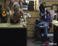 Ebony Boyfriend Nailed With Horny Pawnkeeper At The Pawnshop - scene 11
