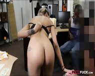 Ebony Boyfriend Nailed With Horny Pawnkeeper At The Pawnshop - scene 5
