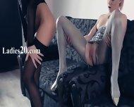 Hot Girl2girl In Pantyhose Again In Action - scene 7