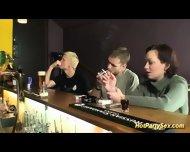Teen Sucks Boners In Club - scene 1