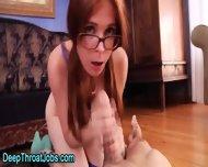 Glasses Slut Deepthroats - scene 10