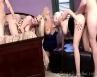 Trio Of Platinum Blonde Wives Get Pumped By 2 Lucky Young Studs - scene 5