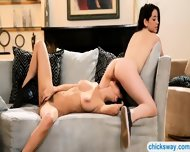 Eva Sedona And April Oneil Making Out On The Couch - scene 12