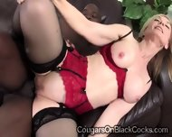 Blonde Cougar In Sexy Lingerie Gets Her Twat Pounded By A Brotha - scene 11