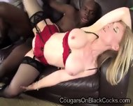 Blonde Cougar In Sexy Lingerie Gets Her Twat Pounded By A Brotha - scene 6