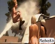 Badass Hotties Enjoy Outdoor Activities While They All Naked - scene 4