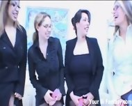 Strapon Role Reversal Gangbang With The Boss Man - scene 1