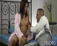Big Guy Deflowers His Gf - scene 4