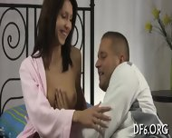 Big Guy Deflowers His Gf - scene 5
