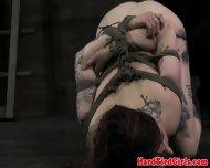 Bondage Babe In Boxtie Position Toyed - scene 4
