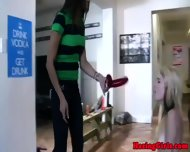 Real Lezzies Pledgers On Dildo Challenge - scene 1