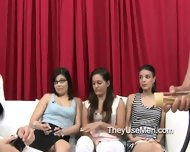 Group Of Clothed Women Play With Cocks - scene 8
