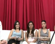 Group Of Clothed Women Play With Cocks - scene 9