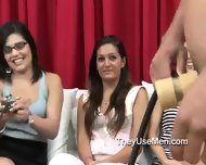 Group Of Clothed Women Play With Cocks - scene 10