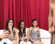 Group Of Clothed Women Play With Cocks - scene 12