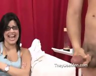 Group Of Clothed Women Play With Cocks - scene 3