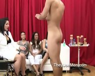 Group Of Clothed Women Play With Cocks - scene 4